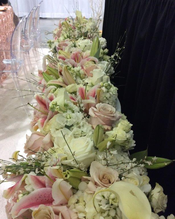 Floral displays at The Greater Va. Bridal Show
