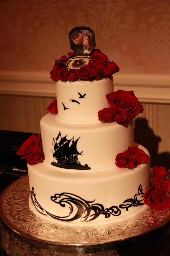 pirate wedding cake of the caribbean style inspiration ceremony and 18620